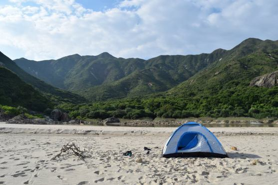 camping-on-a-hk-deseted-beach